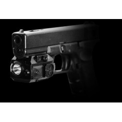 Viseur laser rouge  + lampe armes de poing