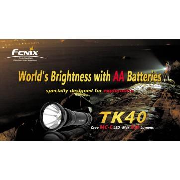 Torche électrique tactique COMMANDO, la Plus Puissante FENIX TK40 !